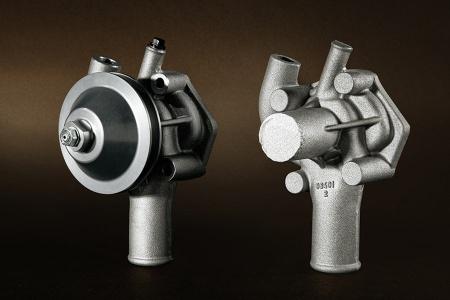 Projekt: Wasserpumpe Umfang: Digitalisierung und Modellbau Lieferung: gegossene Rohteile in Kleinserie
